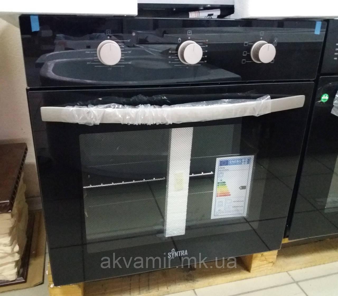 Духовой шкаф SYNTRA SBO 650 BLACK (черное стекло) электрический