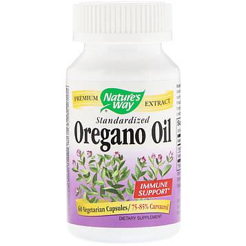 Natures Way, Oregano Oil, Standardized, 60 Vegetarian Capsules