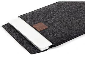 Чехол-конверт Gmakin для Macbook Air Pro 13.3 Темно-серый GM17, КОД: 196812