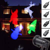 Голографический проектор DIY projection lamp с эффектом цветомузыки (11 кассет), фото 1