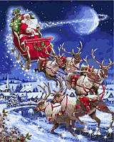 Картины по номерам 40×50 см. Санта-Клаус Художник Ричард Макнейл, фото 1