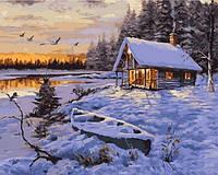 Картины по номерам 40×50 см. Зимняя хижина Художник Ричард Макнейл, фото 1