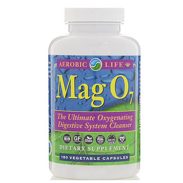 Aerobic Life, Mag 07, эффективное окисляющее средство для очистки пищеварительной системы, 180 растительных капсул