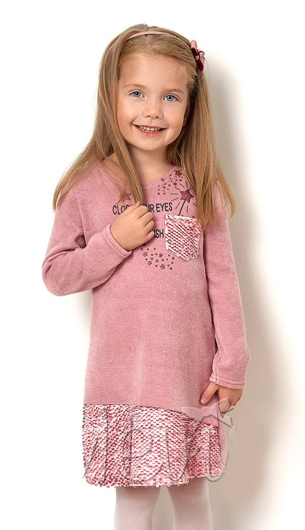 """Детское платье для девочки c длинным рукавом """"Блестящая пайеточка"""""""