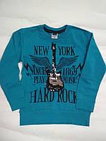 Модный реглан-футболка паетки перевертыш Гитара   5-6 лет, фото 1