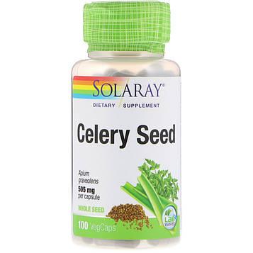 Solaray, Семена сельдерея, 505 мг, 100 растительных капсул