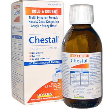 Boiron, Chestal, от простуды и кашля, 6,7 жидкой унции (200 мл)