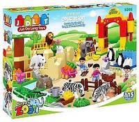 Конструктор jdlt  зоопарк на 115 деталей аналог lego duplo