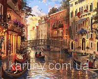 Картины по номерам 50×65 см. Закат в Венеции Художник Доминик Дэвисон