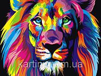 Картины по номерам 50×65 см. Радужный лев Художник Ваю Ромдони, фото 1