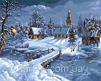 Картины по номерам 50×65 см. Зимняя сказка Художник Виктор Цыганов
