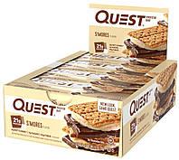 Quest Nutrition, Протеиновые батончики со вкусом зефира, 12 шт по 60 г