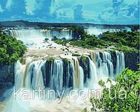 Картины по номерам 50×65 см. Водопад Игуасу