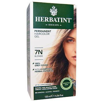 Herbatint, Перманентная краска-гель для волос, 7N, блондин, 4,56 жидкой унции (135 мл)