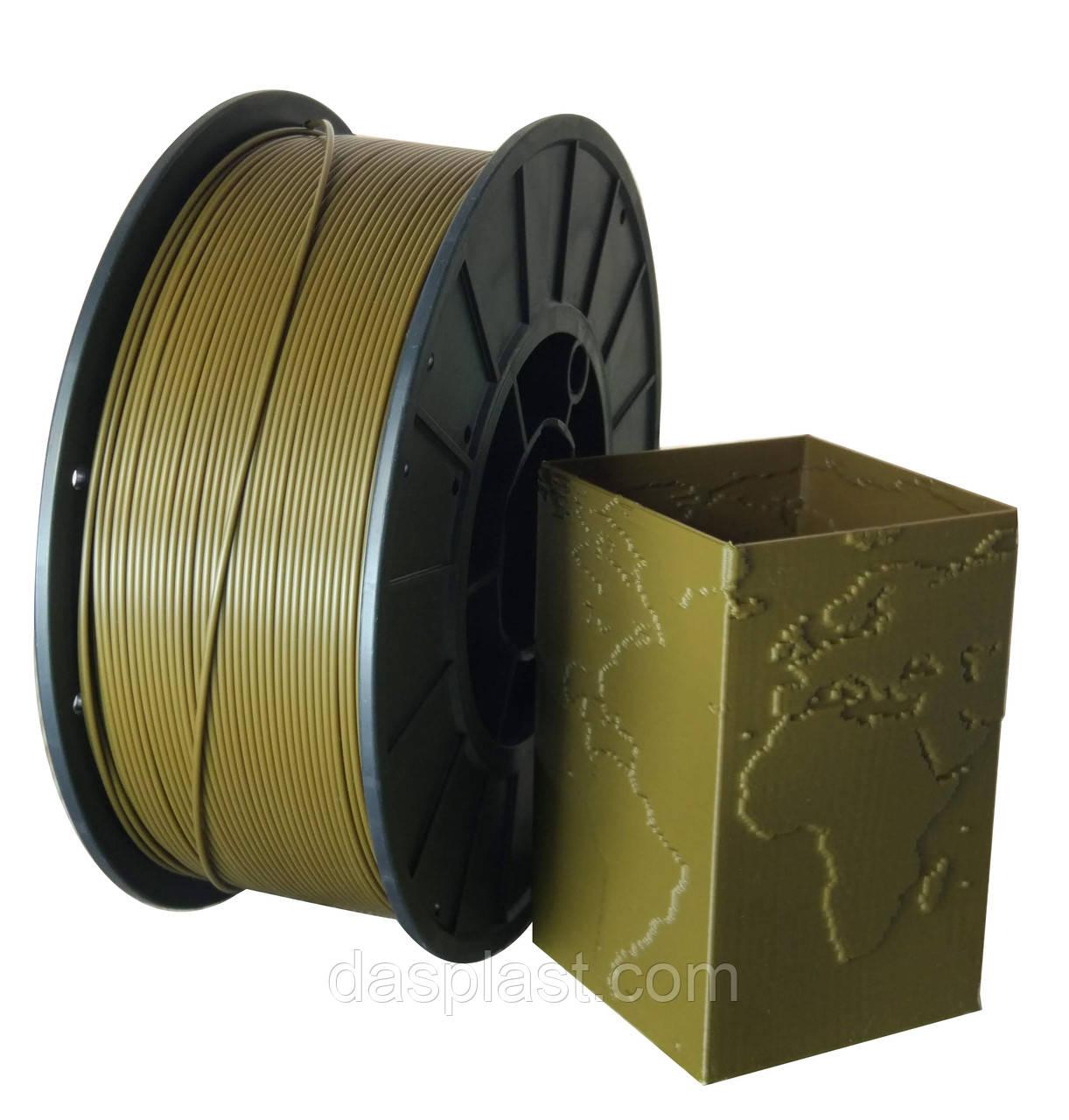 АБС нить цвет  хаки,1 кг, 1.75 мм пластик для 3d печати