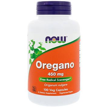 Now Foods, Орегано, 450 мг, 100 растительных капсул
