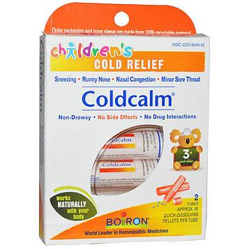 Boiron, Coldcalm, средство от простуды для детей, 2 тюбика, прибл. 80 гранул в тюбике