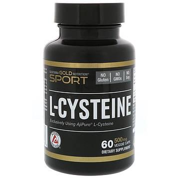 California Gold Nutrition, L-цистеин, AjiPure, 500 мг, 60 вегетарианских капсул