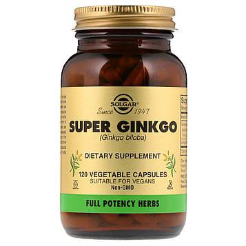 Solgar, Супер гинкго, 120 растительных капсул