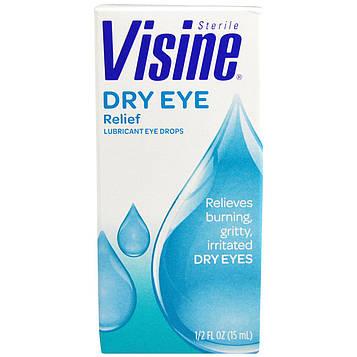 Visine, Средство от сухости глаз, смазывающие глазные капли, стерильные, 0,5 жидк. унц. (15 мл)