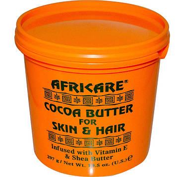Cococare, Африкэр, какао-масло для кожи и волос, 297 г (10,5 унций)