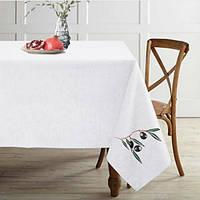 Скатертину на стіл льон 150x150