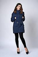 Женская молодежная парка. Код модели ПЛ-08-61-19. Цвет синий джинс.