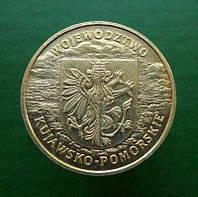 Польша 2 злотых 2004 - Воеводство Куявско-Поморское - редкая!