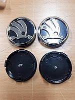 Колпачки, заглушки на диски Skoda Шкода 60 мм / 56 мм черная нового образца, фото 1