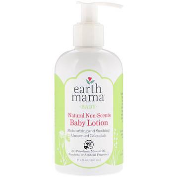 Earth Mama, Натуральный лосьон для малышей, календула без запаха, 8 ж. унц.(240 мл)