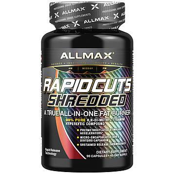 ALLMAX Nutrition, Rapidcuts Shredded, настоящий сжигатель жира все-в-одном, 90 капсул