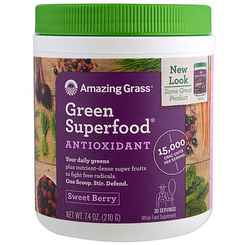 Amazing Grass, Green Superfood, Sweet Berry Flavor , 7.4 oz (210 g)