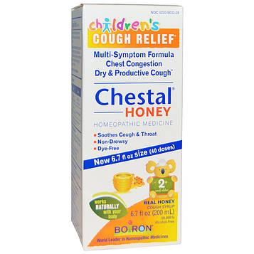 Boiron, Честал с медом, Облегчение кашля для детей, 6.7 унции (200 мл)