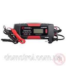 Зарядное устройство 6/12В, 1/2/3/4А, 230В, зимний режим зарядки, дисплей