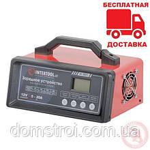 Зарядное устройство 12В, 5/10/15/20А, 230В, режим реанимации, десульфатации аккумулятора INTERTOOL AT-3021