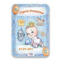 Метрика постер для новорожденных А3 формат Дева, КОД: 182641