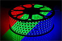 Светодиодная лента 220В RGB SMD 5050 60 диодов на метр IP65 8,8Вт