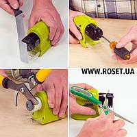 Беспроводная точилка для ножей и ножниц ― Swifty Sharp Motorized Knife Sharpener
