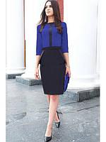 Деловое платье с баской. Размеры S. M, L, XL, XXL. Разные цвета., фото 1