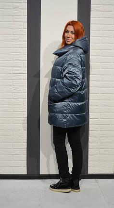 Серо-голубая женская куртка Snow Beuty 1803, фото 2
