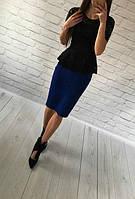 """Костюм женский """"Баска"""" с юбкой. Размеры 40, 42, 44, 46. Разные цвета., фото 1"""