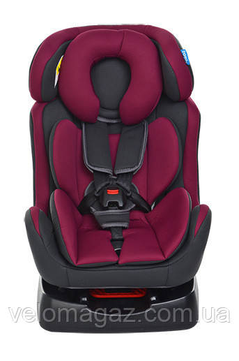 Детское автокресло M 3678-9-15 бордовый цвет