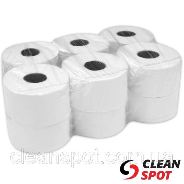 Туалетная бумага белая джамбо 1-шар 220 м. PKB202