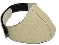 Автопятка кожаная для женской обуви бежевая, фото 1