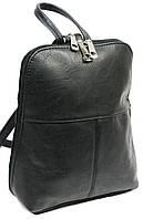 Женский рюкзачок 4U Cavaldi PC-1A-2 кожзам черный 6 л