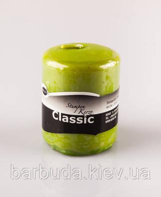 "Свечка без запаха ""Concerto"" h 7,5см,д.6см Зеленая"