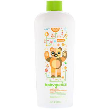 BabyGanics, Пенящееся дезинфицирующее средство для рук, без спирта, технология Eco-Refill, мандарин, 16 ж. унц. (473 мл)