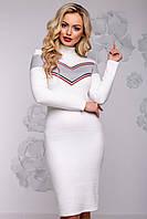 Женское платье, размер от 42 до 48, белое, ангоровое, молодёжное, спортивное, повседневное, облегающее, тёплое