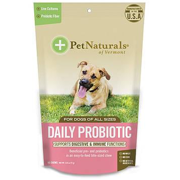 Pet Naturals of Vermont, Ежедневные пробиотики, для собак всех размеров