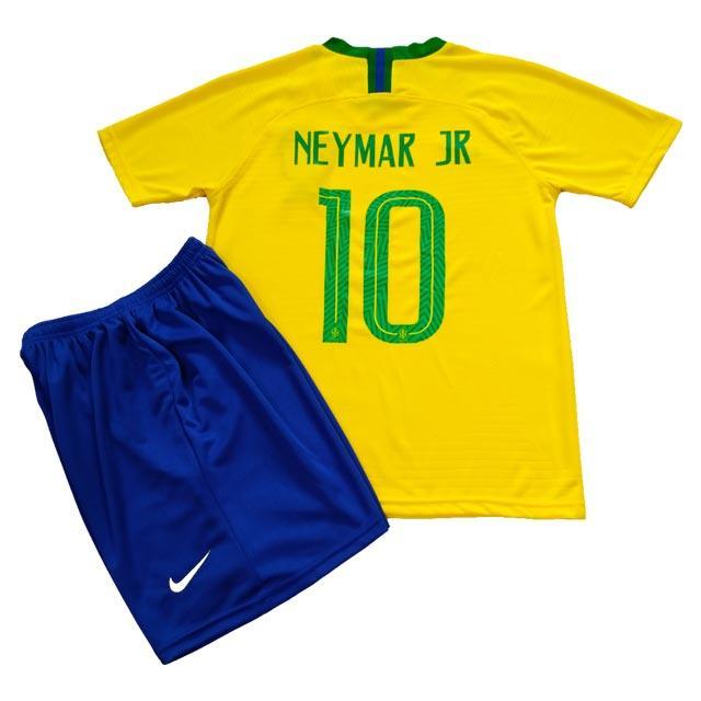 Детская футбольная форма ФК Бразилии Неймар 2018-2019г, фото 1